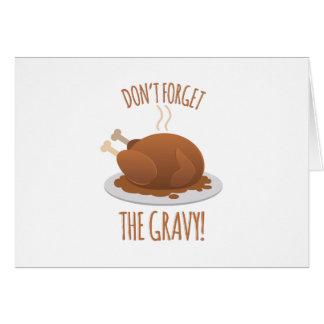 No olvide la salsa tarjeta de felicitación