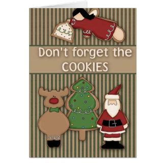No olvide la tarjeta de felicitación del navidad