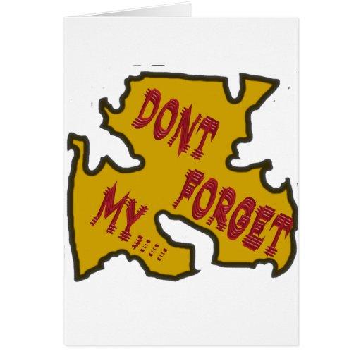 No olvide mi tarjetas