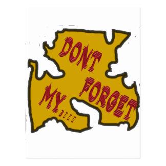 No olvide mi postal