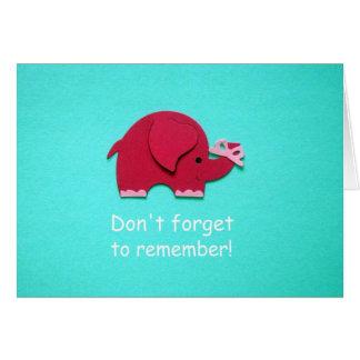 ¡No olvide recordar! Tarjetas