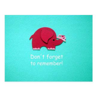 ¡No olvide recordar! Postales