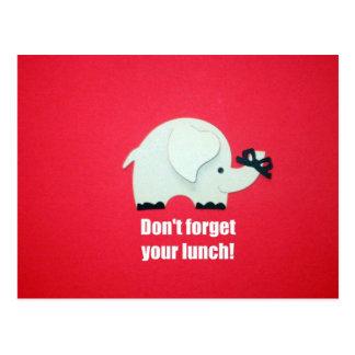 ¡No olvide su almuerzo Postal