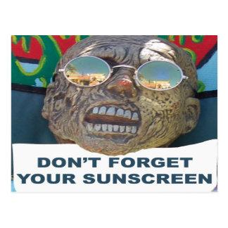 No olvide su postal de la protección solar
