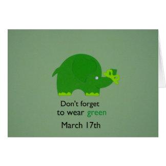 No olvide…. tarjeta de felicitación