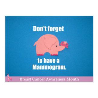 No olvide tener un mamograma postal