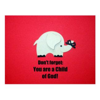 No olvide: ¡Usted es un niño de dios! Postal