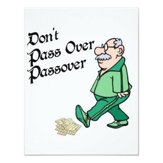 No pase sobre Passover Invitación 10,8 X 13,9 Cm