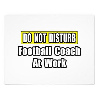No perturbe… al entrenador de fútbol en el trabajo invitación personalizada