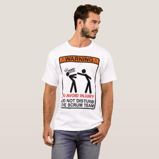 ¡No perturbe al equipo del melé! Camiseta
