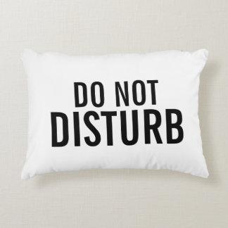 """""""No perturbe"""" la almohada decorativa"""