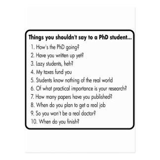 No pida un PhD Postal