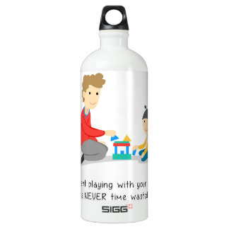 No pierda el tiempo - botella de agua