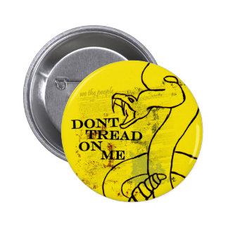 No pise en mí chapa redonda de 5 cm