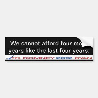 No podemos permitirnos pegatina de cuatro a más añ pegatina para coche