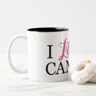 No puedo asaltar literalmente taza de café de dos colores