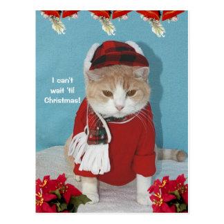 ¡No puedo esperar 'hasta navidad! Postal