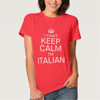 No puedo guardar calma que soy italiano camiseta