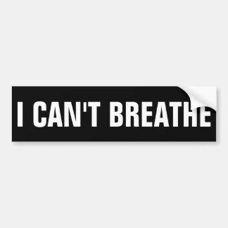 No puedo respirar pegatina para coche