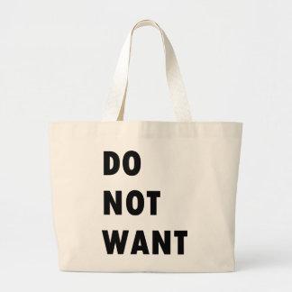 No quiera bolsas lienzo