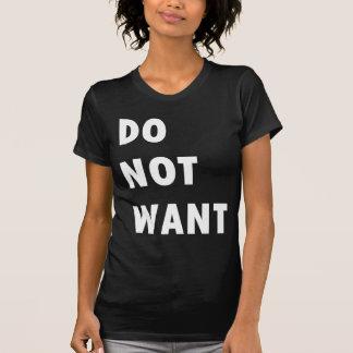 No quiera camisetas