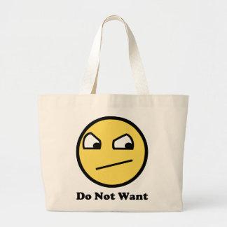No quiera la cara impresionante bolsas