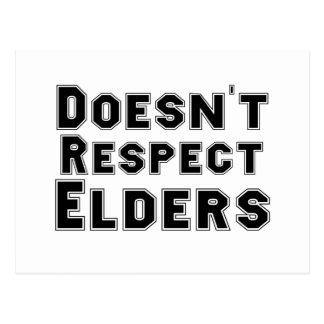 No respeta ancianos postal