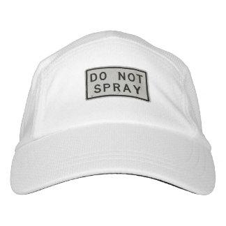 no rocíe gorra de alto rendimiento