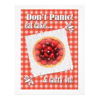 No se atierre comen el aviador de la torta folleto 21,6 x 28 cm