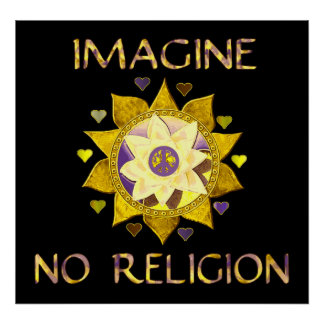 No se imagine ninguna religión póster