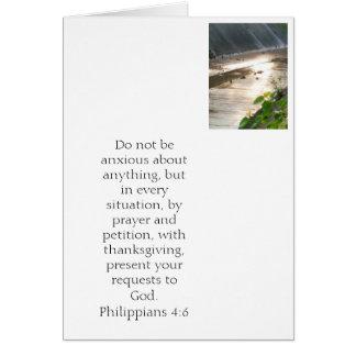 No se preocupe. 4:6 de los filipenses tarjeta