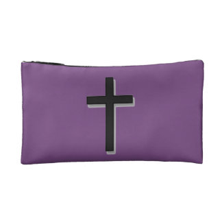 No se preocupe la cruz cosmética del bolso w/Black