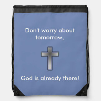 No se preocupe la cruz de la mochila w/Blue