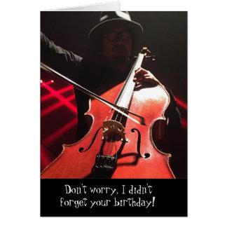 No se preocupe la tarjeta de cumpleaños clásica