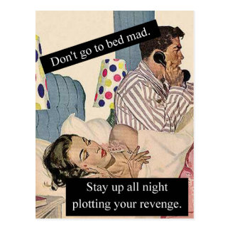 No se vaya a la cama enojado tarjeta postal