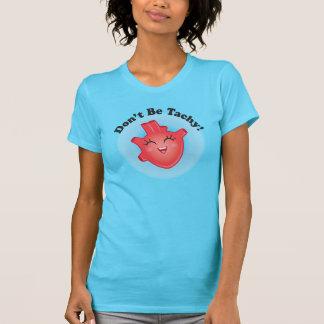 No sea camiseta anatómica del corazón de Tachy