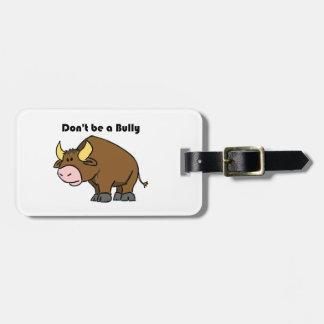 No sea un dibujo animado de la vaca de Bull del Etiquetas Para Maletas