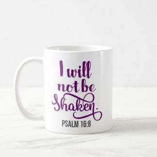 No seré taza de café sacudida del salmo