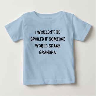 No sería… abuela estropeada del abuelo camiseta de bebé