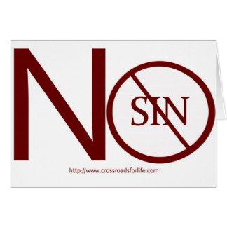 no-sin-RED2-tag Tarjeta De Felicitación