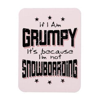 No SNOWBOARD GRUÑONA (negro) Iman