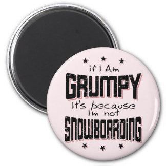 No SNOWBOARD GRUÑONA (negro) Imán