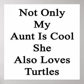 No sólo mi tía Is Cool She Also ama tortugas Póster