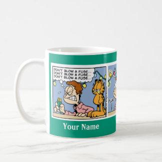 """""""No sople taza de la historieta de Garfield de un"""