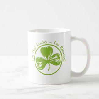 No soy afortunado, yo soy trébol bendecido taza de café