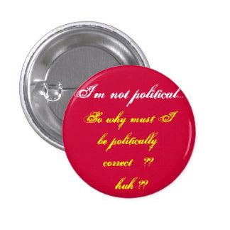 No soy botón político pin