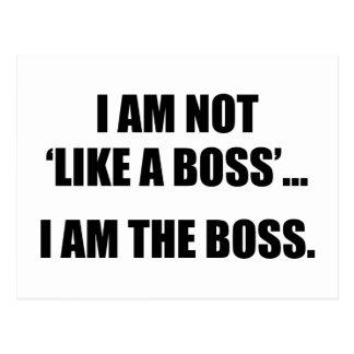 No soy como Boss. Soy el jefe Postal