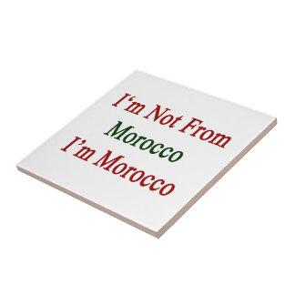No soy de Marruecos que soy Marruecos Tejas Cerámicas