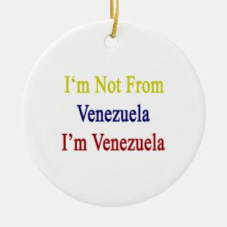 No soy de Venezuela que soy Venezuela Adorno De Navidad