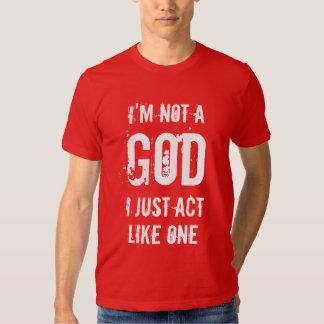 No soy dios camiseta
